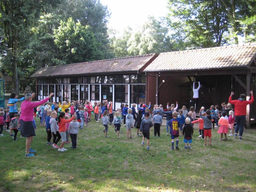 Sportdag kleuterschool in Don Bosco